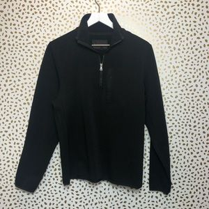 MENS banana Republic 3/4 zip Black Sweater